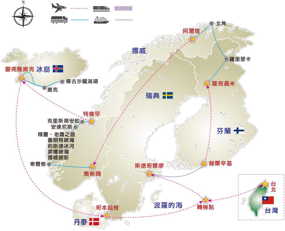 冰岛1号公路 地图