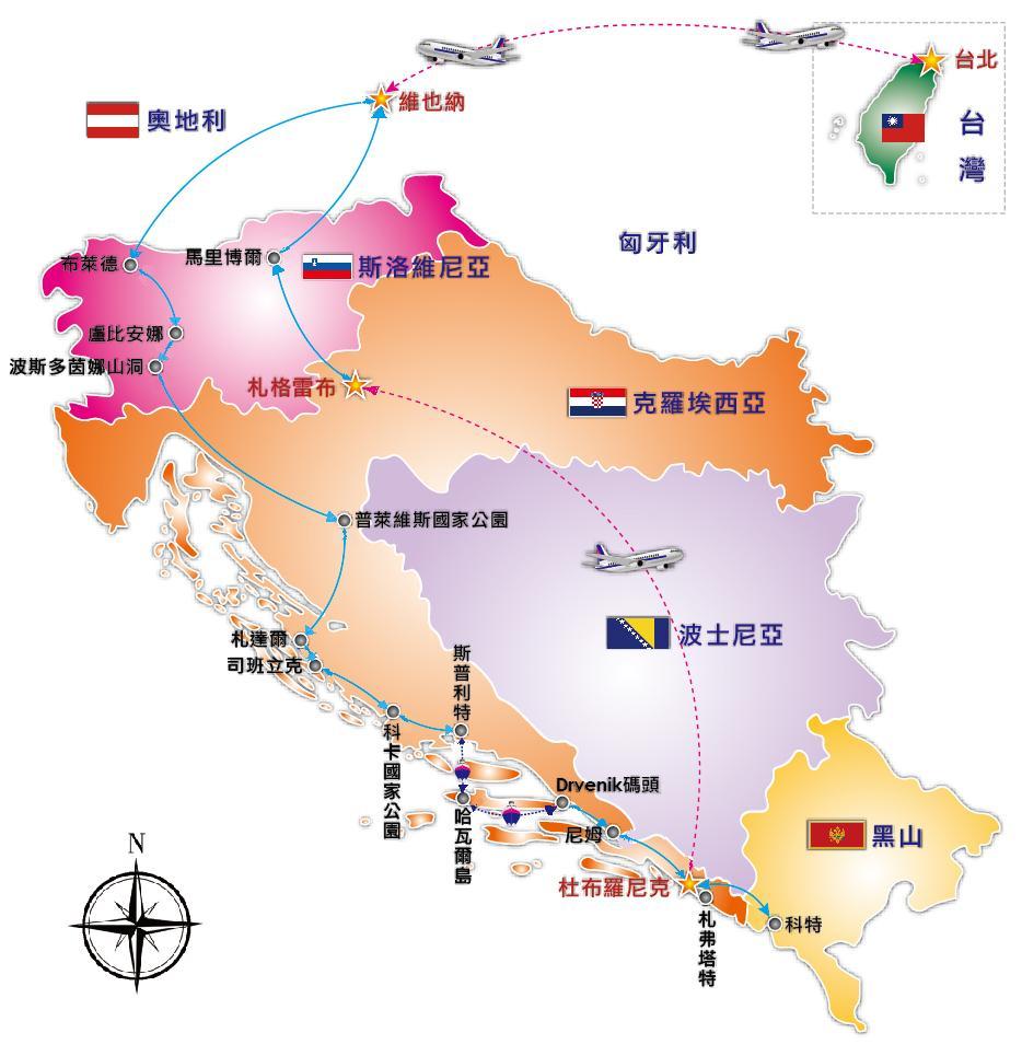 手绘台北美食地图