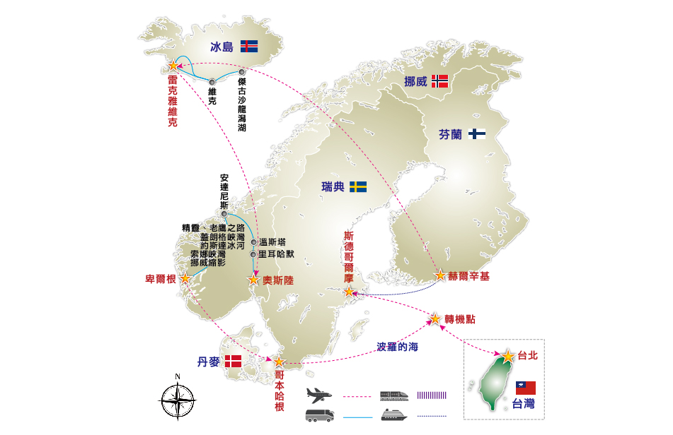 冰岛地图位置世界地图